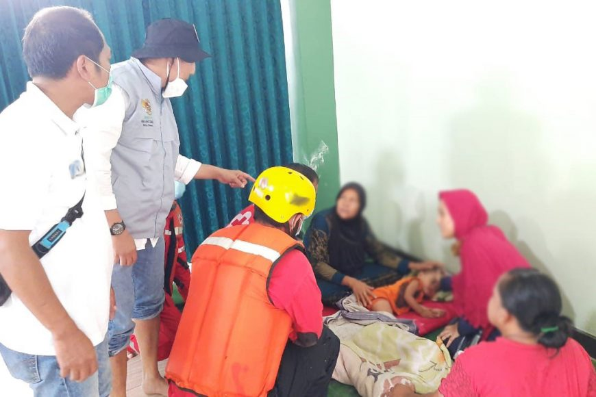 Korban Banjir Trenyuh Disambangi BTB Baznas Kota Semarang